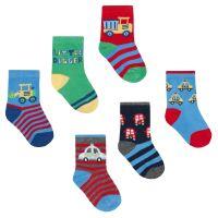 44B768, Baby boys 3 in a pack cotton rich design socks £1.10.   8pks...