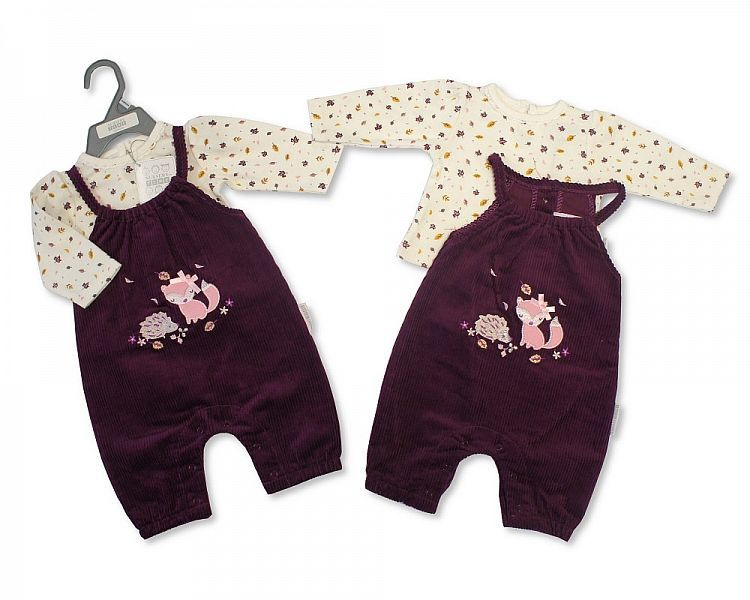 BIS2128, Baby Girls 2 Pieces Set - Woodland (Bottom, Top) £6.75.  PK6..