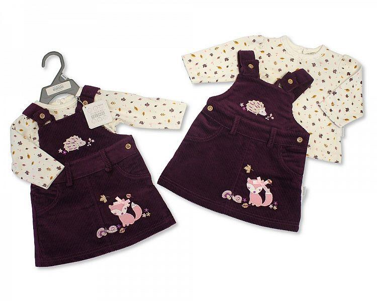 BIS2125, Baby Girls Dungaree Set - Woodland (Dungaree, Top) £6.75.  PK6..