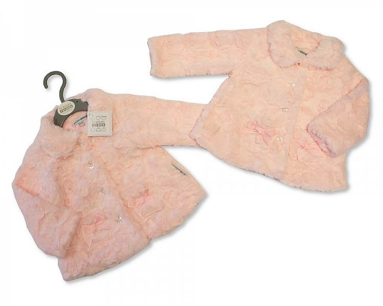 BIS2055, Furry Baby Girls Coat £7.95.  PK4..