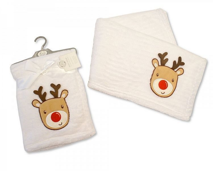BW996,  Baby Christmas Wrap - Reindeer £3.60.  PK3..