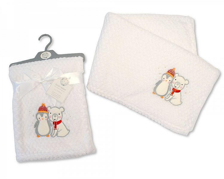 BW995,  Baby Wrap ' Christmas Friends' £3.30.  PK3..