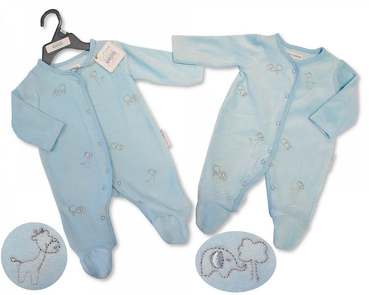 BW366, Baby Boys Velour All in One - Animals £3.95.  PK6..