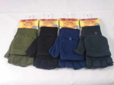 GLA141, 10 dozen Mens assorted colour thermal capped gloves....