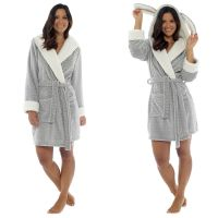 LN818, Ladies Novelty Embossed Hooded Gown £10.75.  pk12..