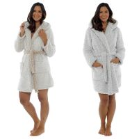 LN816, Ladies Sherpa Hooded Gown £10.25.  pk12..