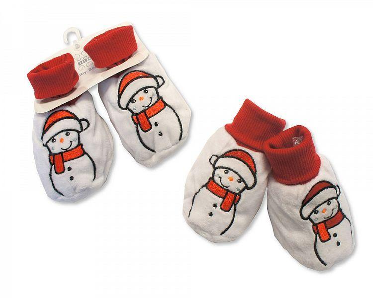 GP0846, Baby Christmas Booties - Snowman £2.40.  PK6..