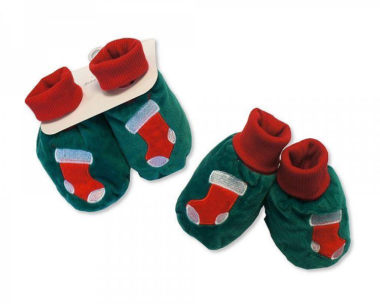 GP0845, Baby Christmas Booties - Stockings £2.40.  PK6..