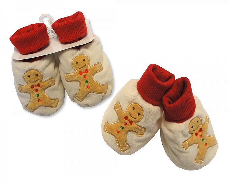 GP0844, Baby Christmas Booties - Gingerbread Man £2.40.  PK6..