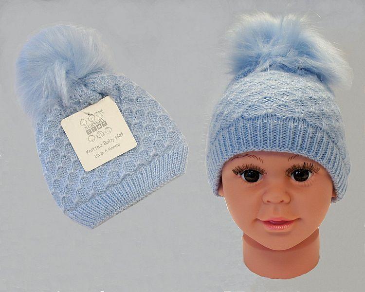 BW0334S, Baby Boys Knitted Pom-Pom Hat £2.95.  PK6..