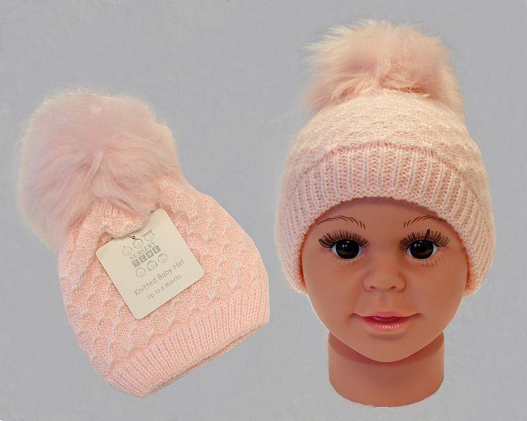 BW0334P, Baby Boys Knitted Pom-Pom Hat £2.95.  PK6..