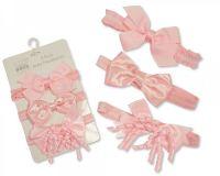 GP0836P, Baby Headband Set of 3 - Pink £1.80.  6PKS...