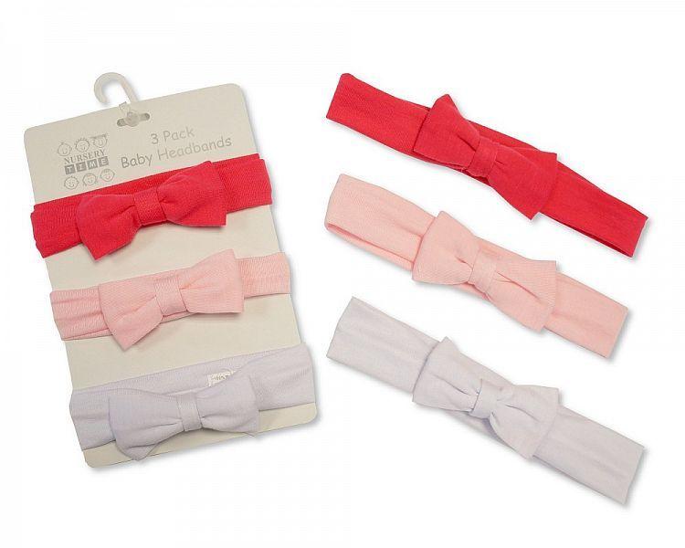 GP0835, Baby Headbands - Pack of Three Colours £1.85.  6PKS..