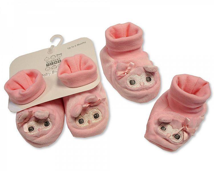 GP0832, Baby Booties - Owl  £2.70.  PK6..