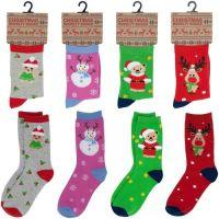 """SK301, 6 dozen Kids """"Christmas"""" novelty socks...."""