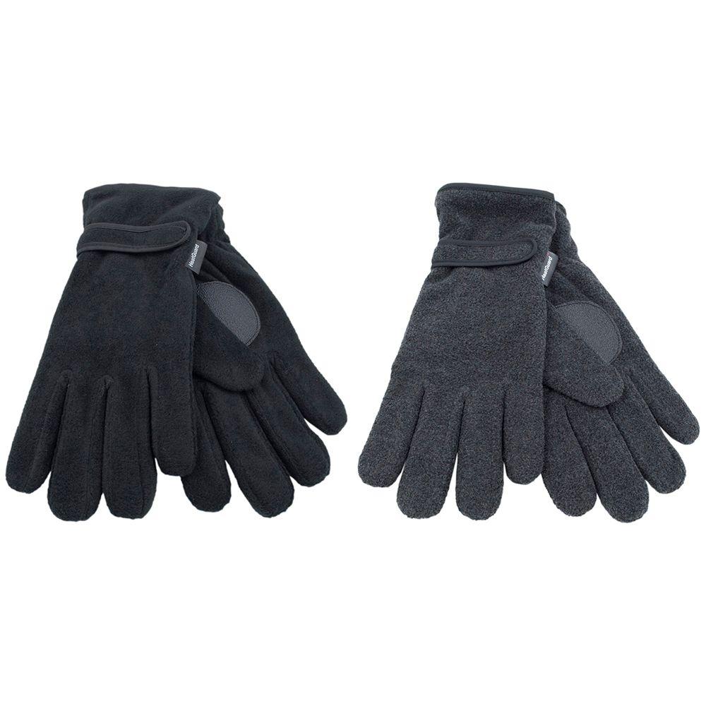 GL127, Mens thinsulate polar fleece black gloves £2.05.   pk12..