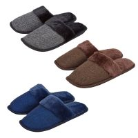 101B010, Mens mule slippers with detail as shown £2.30.  pk36...