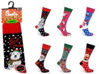 "Code:2123, Ladies ""Christmas"" novelty socks 1 dozen..."