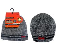 "Code:2176, ""Heat Machine"" Brand Mens Thermal Beanie Hat with Polar Fleece Insulation £1.50.  pk12..."