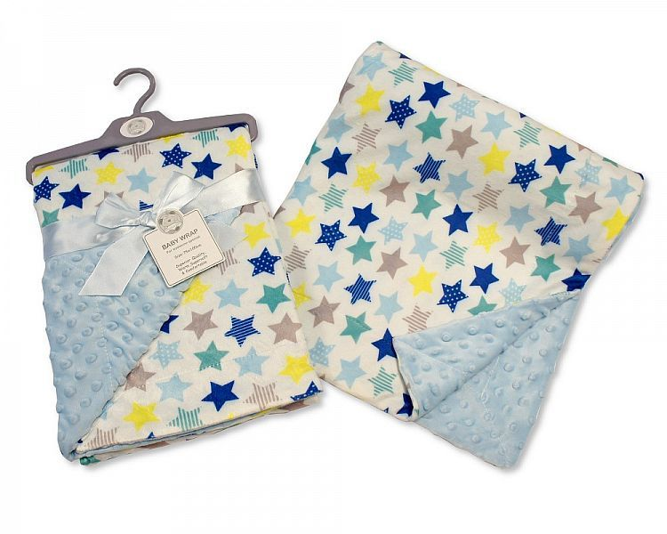 BW976S, Baby Reversible Wrap - Stars - Sky £4.95.  PK2..