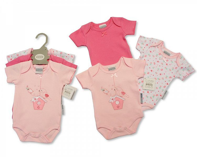 GP0855-1, Baby 3 Pieces Bodysuit Gift Set - Little Bird £4.15.  6PKS...