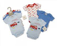 GP0858, Baby 3 Pieces Bodysuit Gift Set - Fire Engine  £4.15.  6PKS...