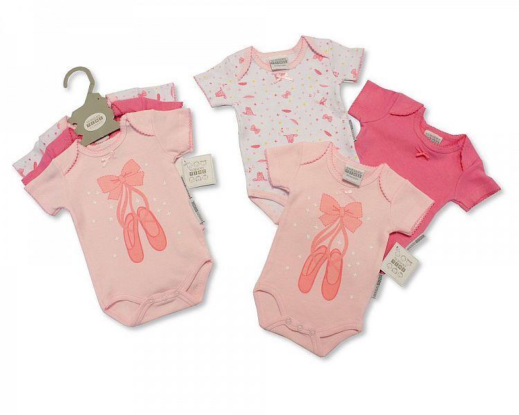 GP0857, Baby 3 Pieces Bodysuit Gift Set - Ballerina £4.15.  6PKS...