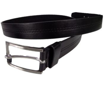 Style24,  Ex Major High Street Men's Black Stitch Detail Belt £1.50.  PK12..