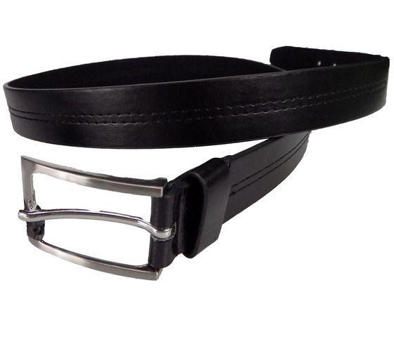Style24,  Ex Major High Street Men's Black Stitch Detail Belt £1.50.  PK12.