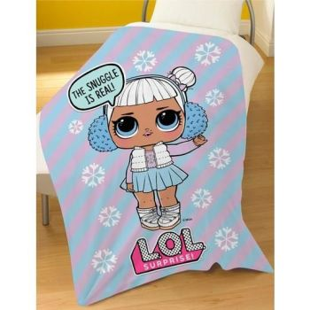 "LOL9076, Official ""L.O.L Surprise""""Snow Flake"" Fleece Blanket £3.95.  pk6"