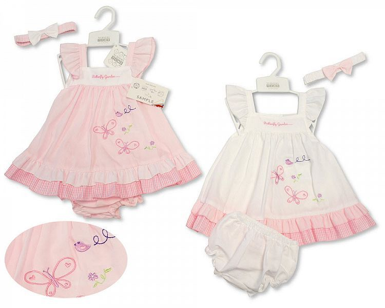 *BIS2185, Baby Dress - Butterfly Garden £4.65.  PK12..
