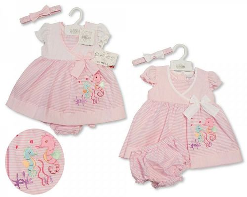 ee59e90cfd *BIS2182, Baby Dress 9-24 Months - Seahorse £4.65. PK12...