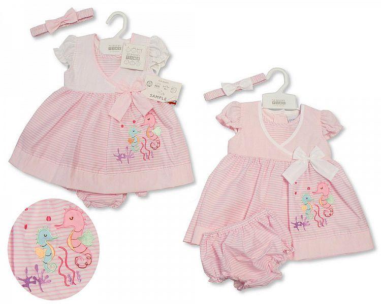 *BIS2182, Baby Dress 9-24 Months - Seahorse £4.65.  PK12...