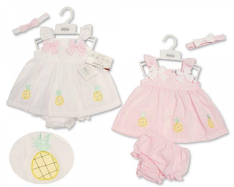 *BIS2170, Baby Dress 0-9 Months - Pineapple £4.45.  PK12..
