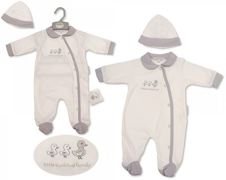 BIS2210, Baby All in One with Hat - Little Ducklings £6.15.  PK6..