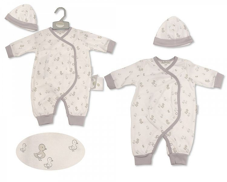 BIS2207, Baby All in One with Hat - Little Ducklings £5.25.  PK6...