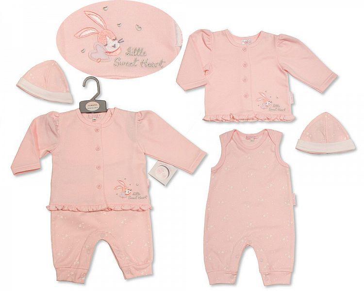 BIS2199, Baby Girls Cardigan Set with Hat - Sweetheart £8.95.  PK6..