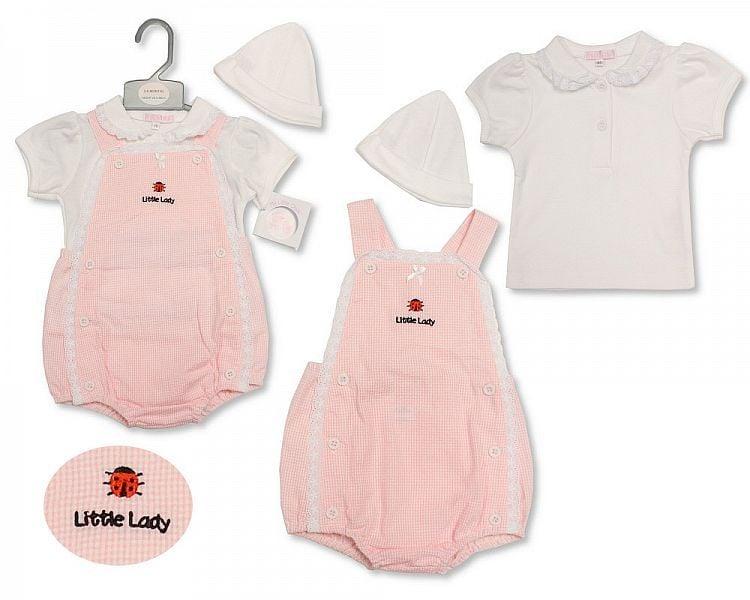 BIS2193, Baby Girls 2 Pieces Set with Hat - Ladybird £6.95.  PK6..