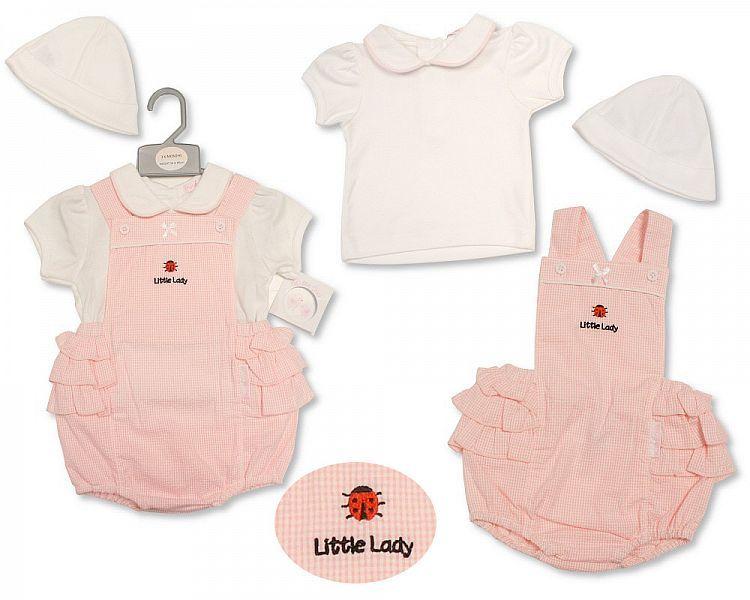 BIS2191, Baby Girls 2 Pieces Set with Hat - Ladybird £7.45.  PK6..