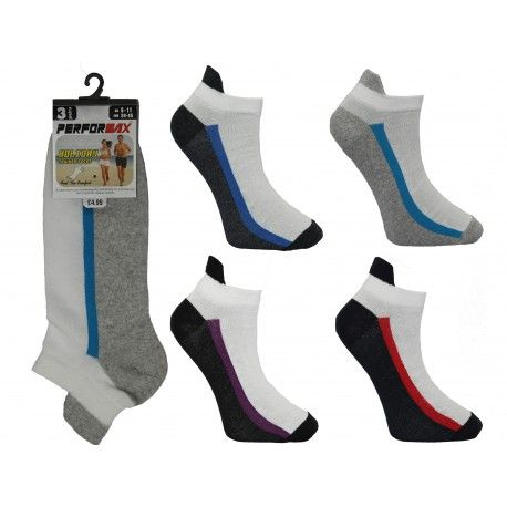 SL1105, Mens 3 in a pack higher up trainer socks £0.74.  1 dozen (12 pairs)
