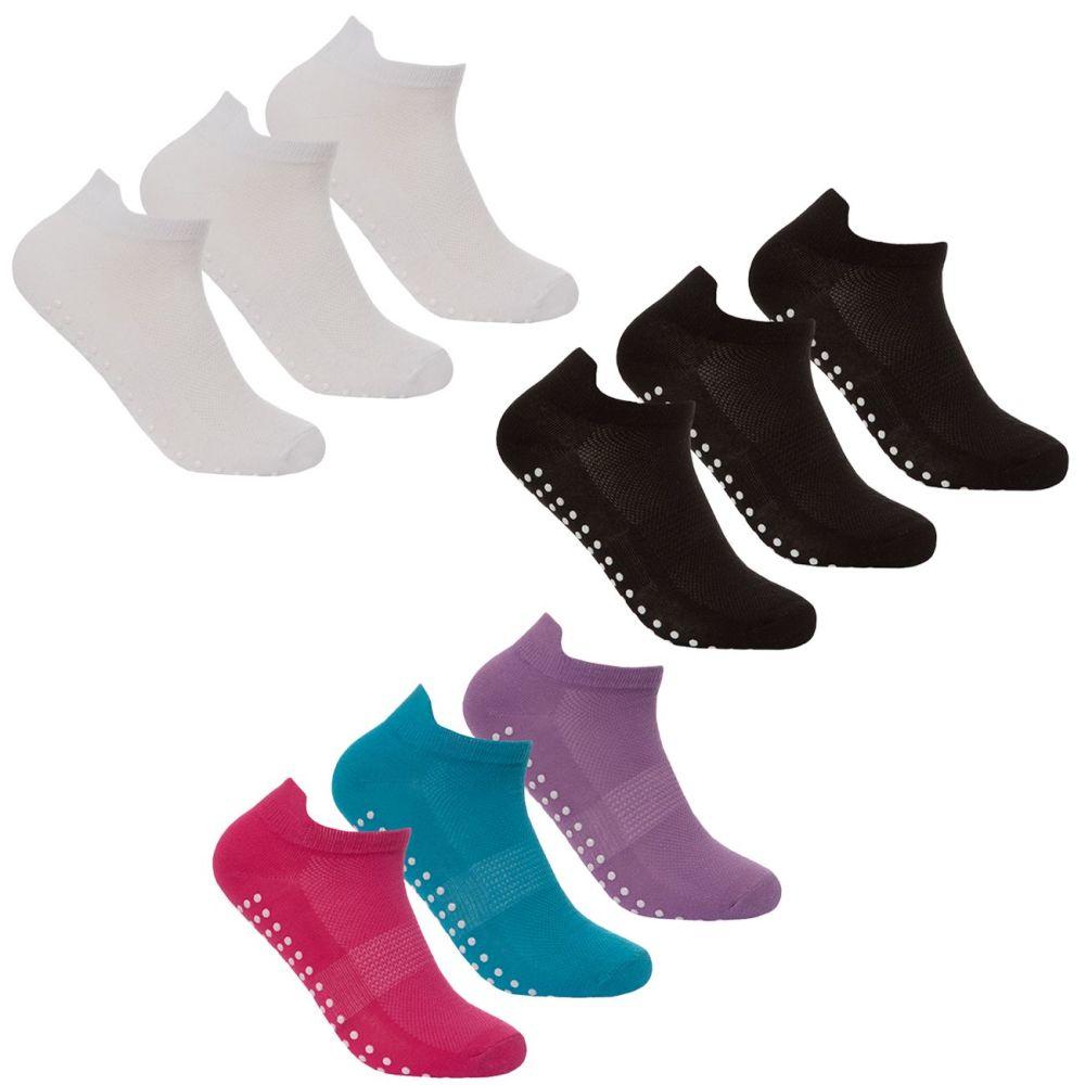41B487, Ladies 3 in a pack Sport Trainer Liner Socks £1.35.  36pks..