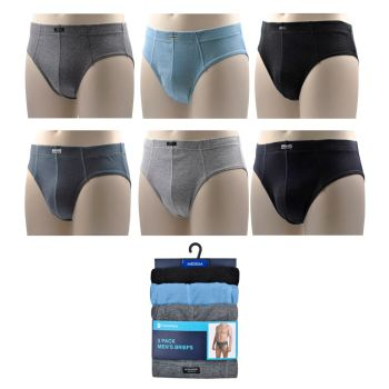 "BR184A, ""Tom Franks"" Brand Mens 3 in a Pack Briefs with Ribbed Side£2.50.  20pks..."