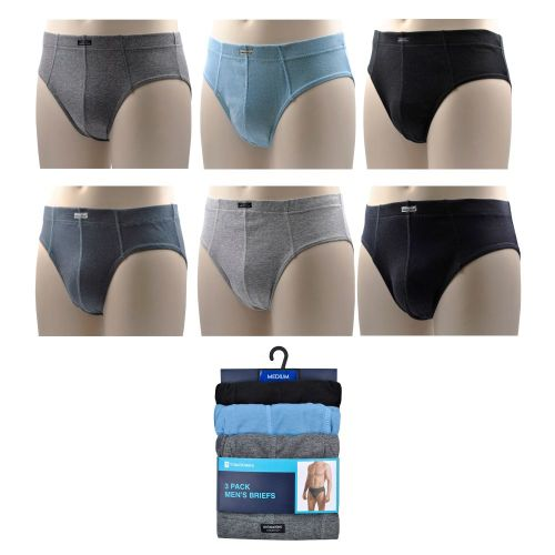 BR184A, Mens 3 in a pack Briefs £2.50.  40pks...