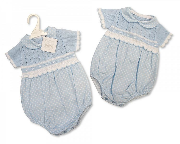 BW810, Knitted Baby Romper £10.00.  PK6..