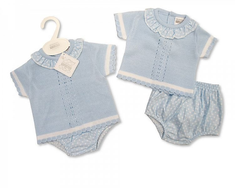BW809, Knitted Baby 2 Pieces Set £10.00.  PK6..