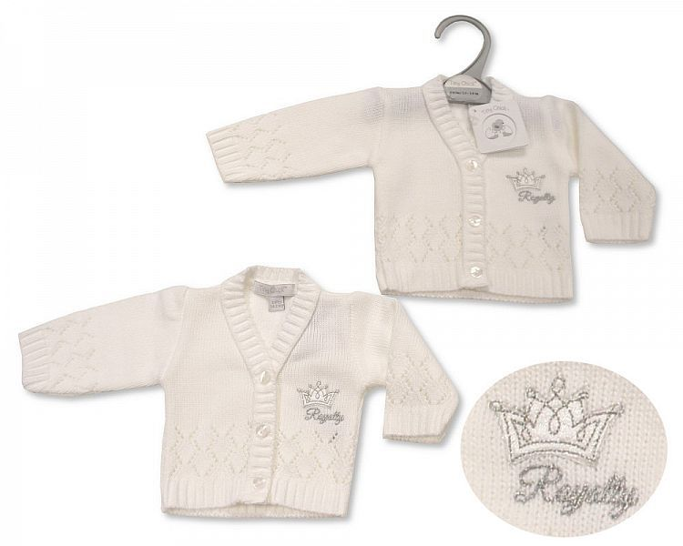 **PB929, Premature Baby Knitted Cardigan - Royalty £3.50.  PK6..