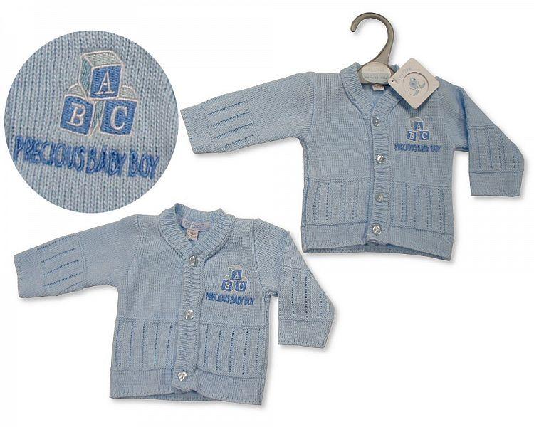 PB926, Premature Baby Boys Knitted Cardigan - Precious Baby Boy £3.50.  PK6