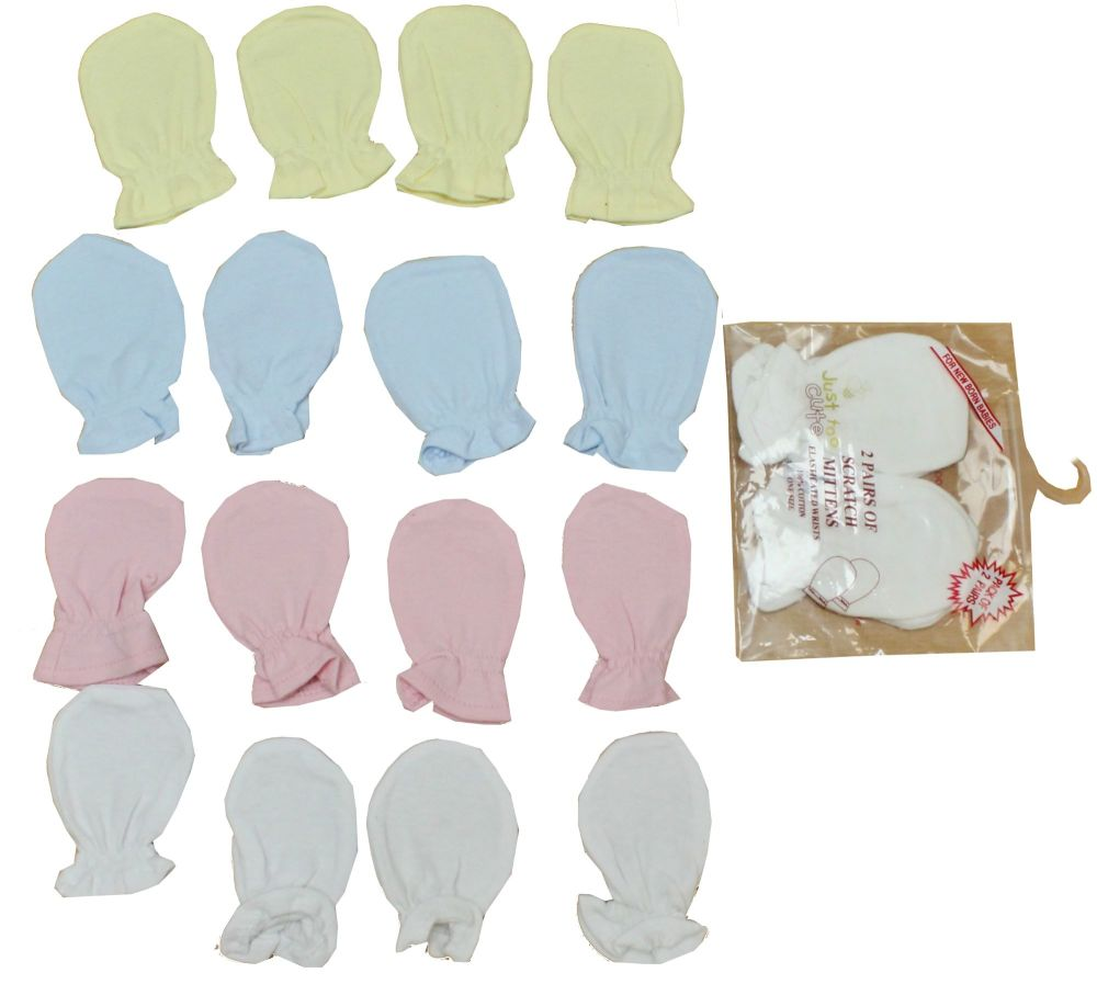 JTC585P, Scratch mitts 2 pair pack in assorted colours £0.70.   12pks....