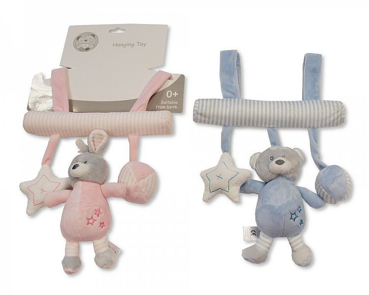 GP928, Baby Hanging Toy with Rattle and Squeaker - Rabbit/Bear £4.75.  PK6.