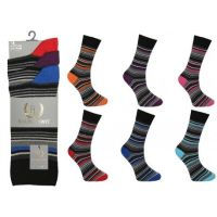 RL505, Mens stripe design socks, 1 dozen..